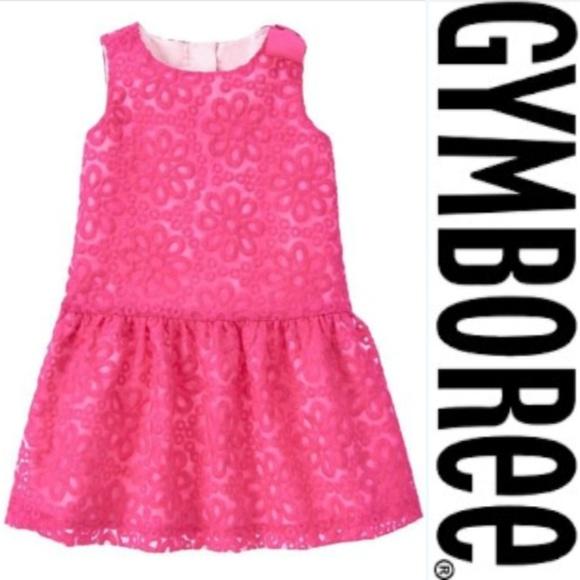 ba38687dd287 Gymboree Dresses   Fuchsia Floral Eyelet Organza Dress 2t   Poshmark